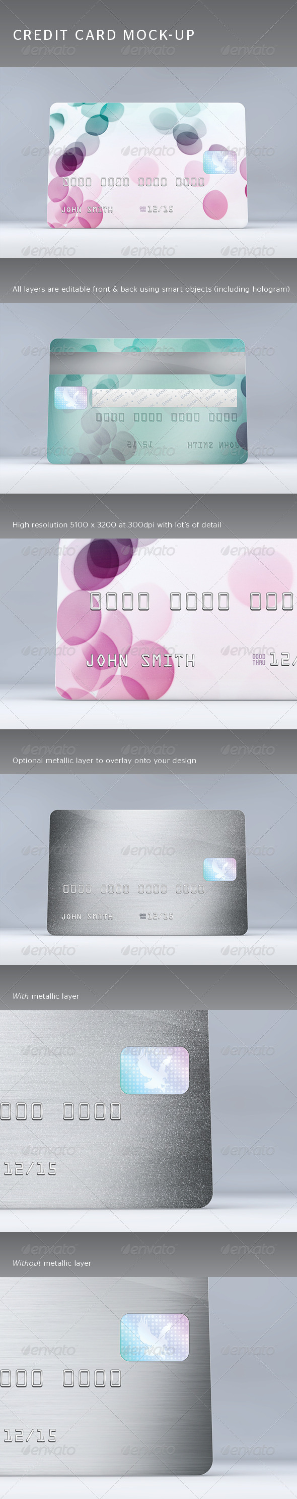 GraphicRiver Credit Card Mock-Up 4308346