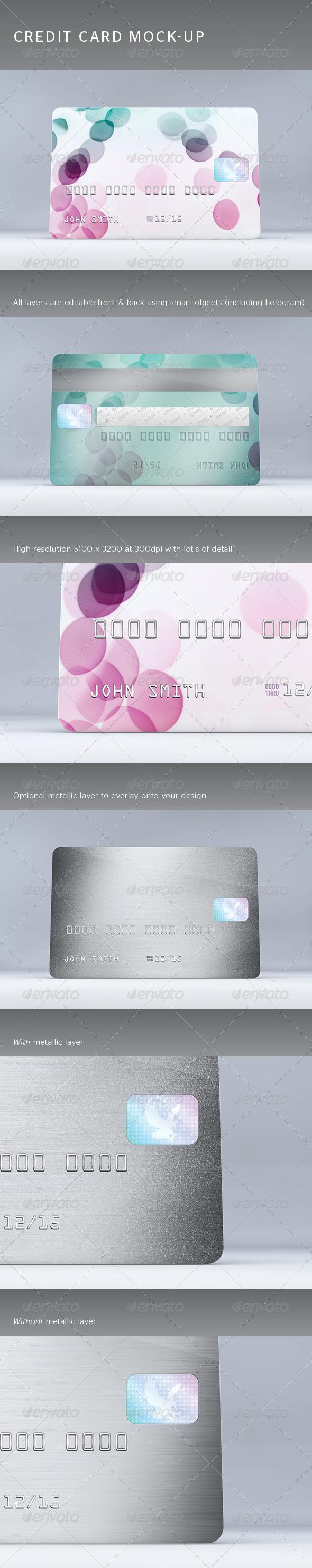 GraphicRiver Credit Card Mock-Up 4308346