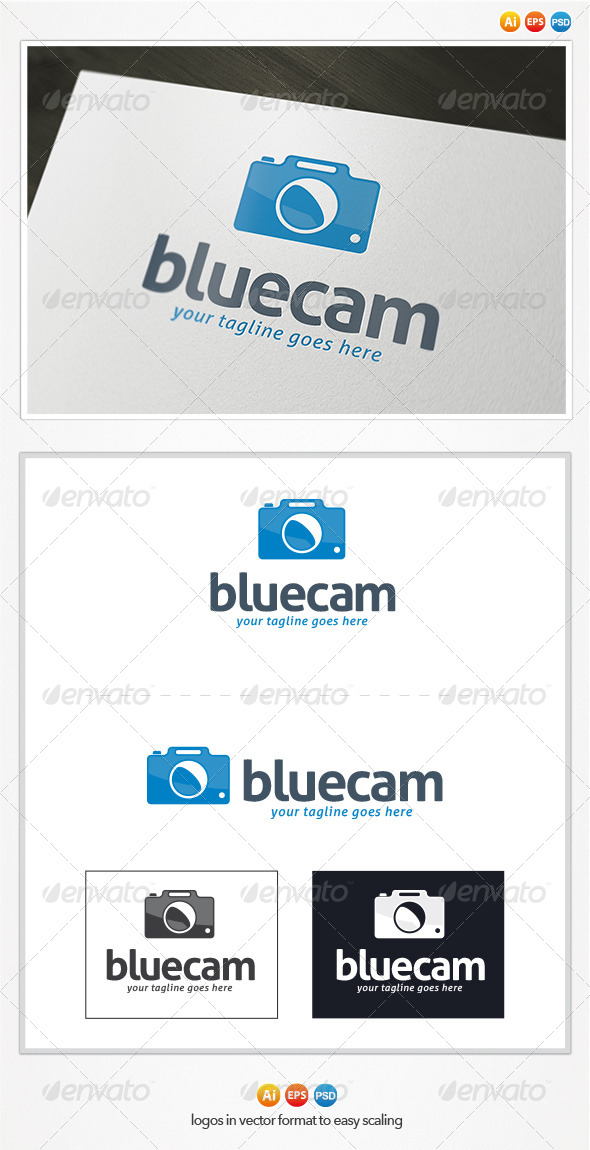GraphicRiver Blue Cam Logo 4369536