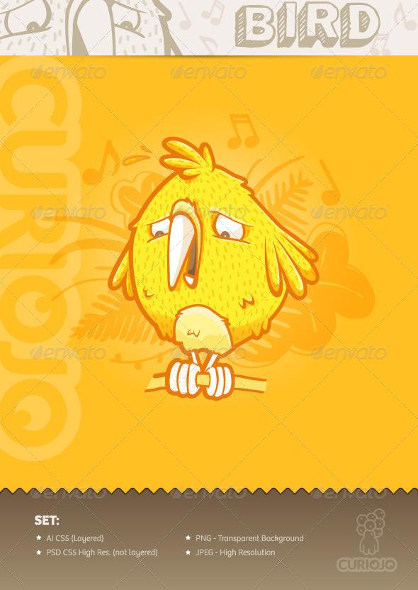 GraphicRiver Bird Mascot 4279738