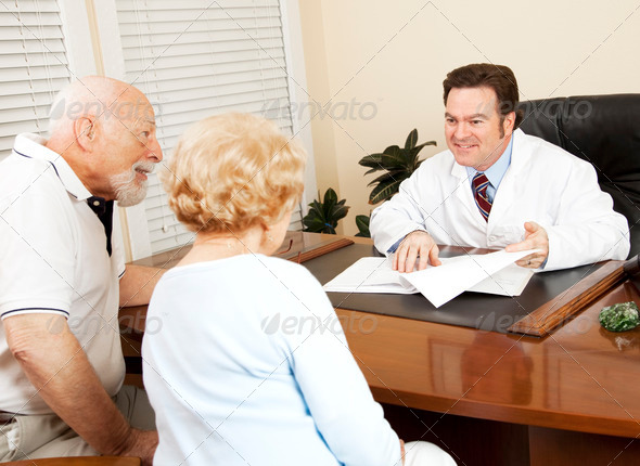 Stock Photo - PhotoDune Doctor Gives Good News to Patient 468923