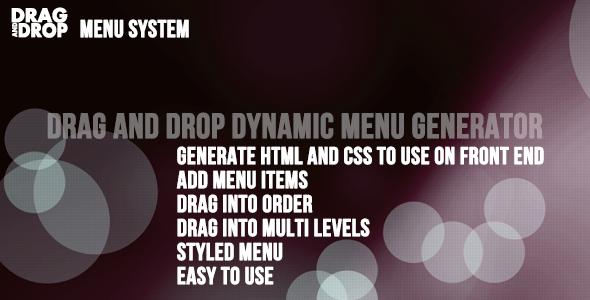 CodeCanyon Drag and Drop Menu Generator and Sorter 4369862