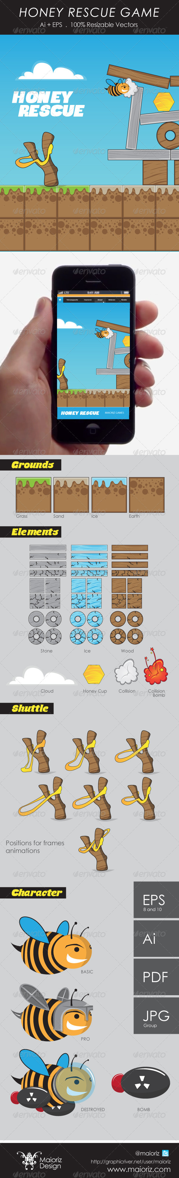 Honey Rescue - Miscellaneous Vectors