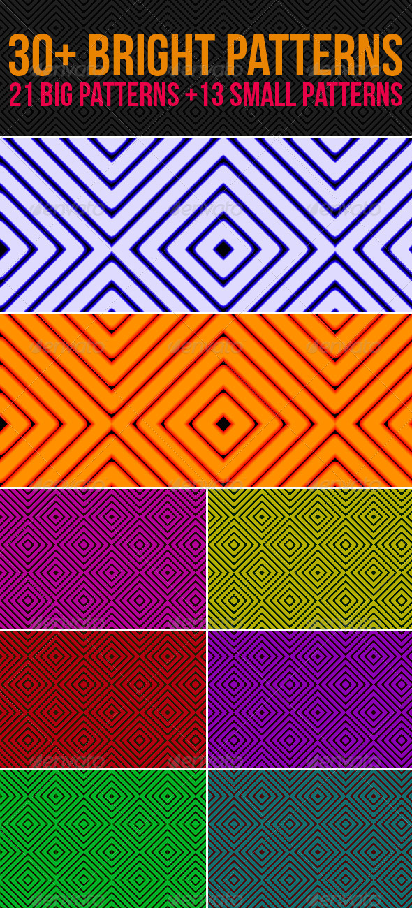GraphicRiver 30& Striped Patterns 4369951