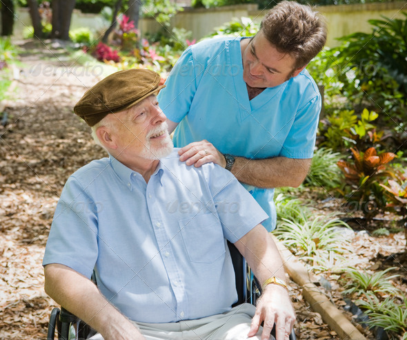 PhotoDune Elderly Patient and Nurse 468952