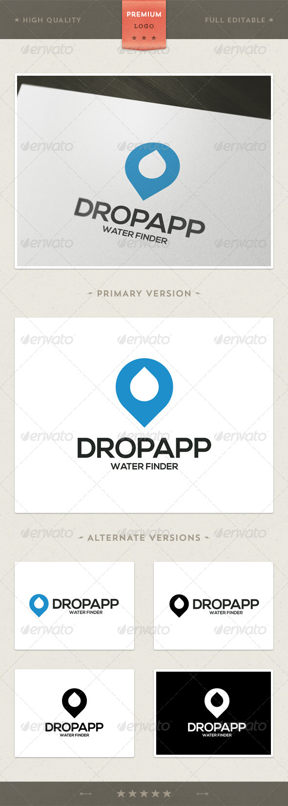GraphicRiver Dropapp Water Finder Logo Template 4370038