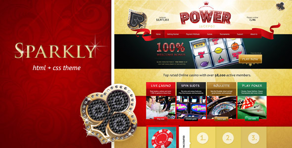 ThemeForest Power Jackpot glossy and shiny HTML theme 4289021