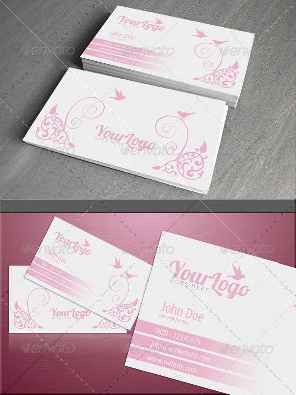 GraphicRiver Feminine pink card 4268783