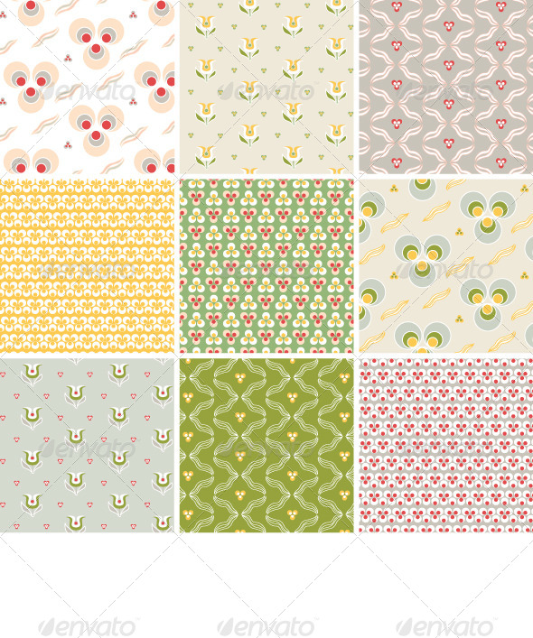 GraphicRiver Seamless Pattern with Floral Texture 4371066