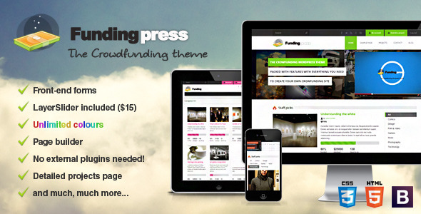ThemeForest Fundingpress The Crowdfunding Wordpress Theme 4371069