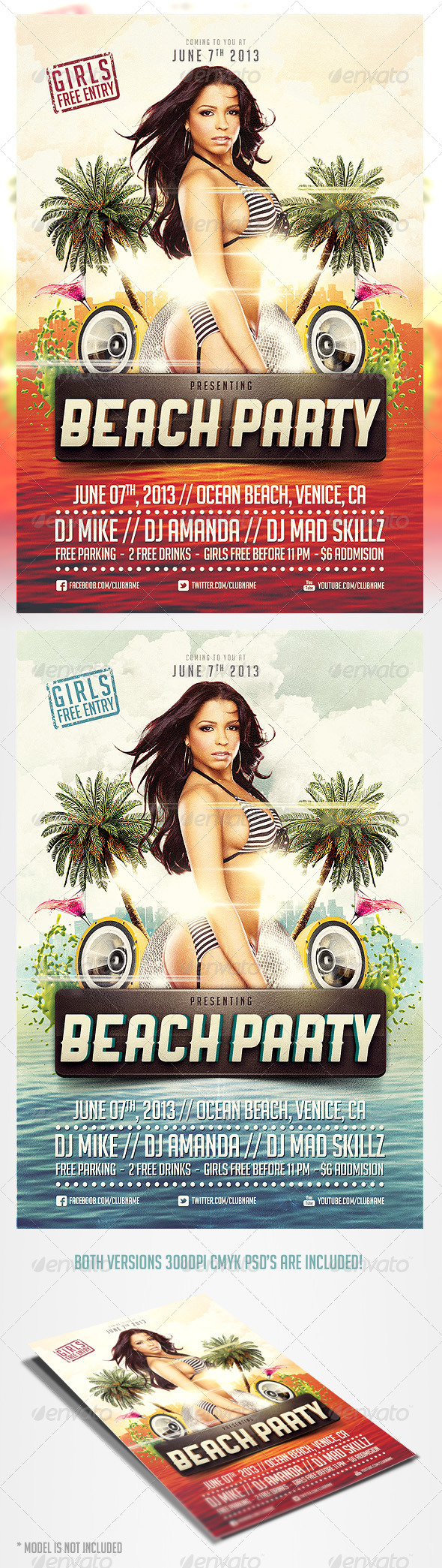 GraphicRiver Beach Party Flyer Template 4371169