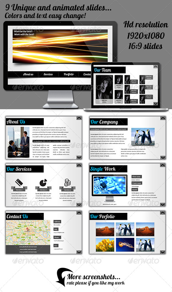 GraphicRiver Web Style Powerpoint Presentation 4303199