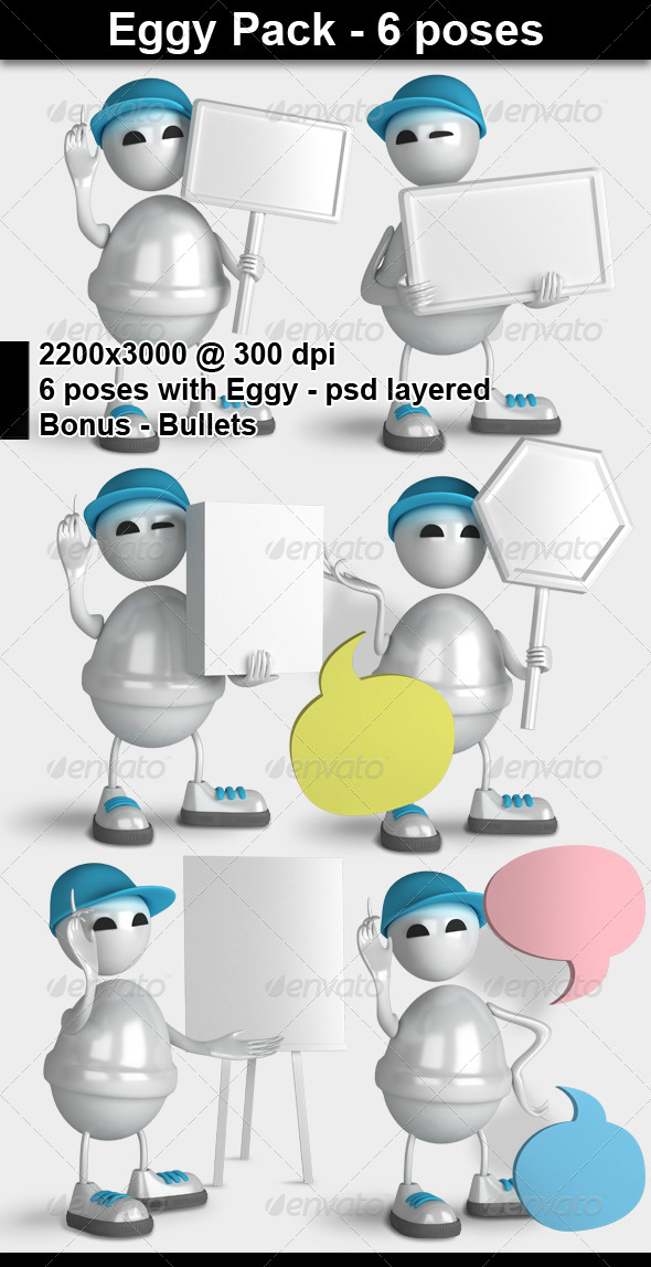 GraphicRiver Eggy Character 3D Render 4371446