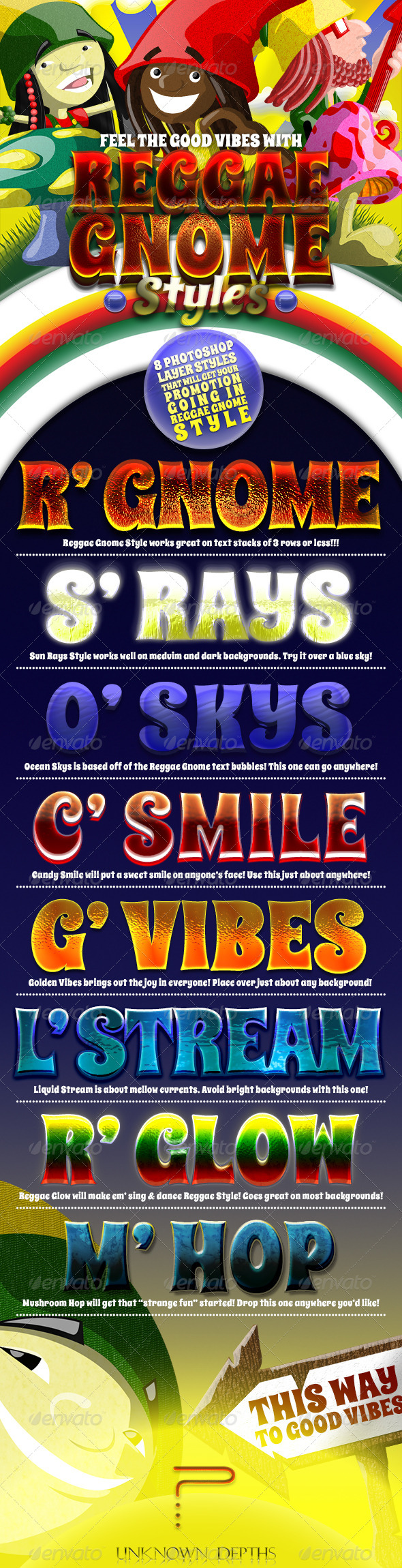 GraphicRiver Reggae Gnomes Layer Styles 4371616