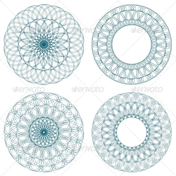 GraphicRiver Set of Vector Guilloche Rosettes 4372013