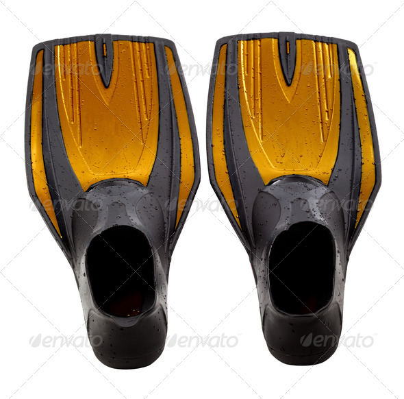 Swim fins - Stock Photo - Images