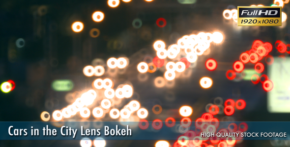 Cars in the City Lens Bokeh