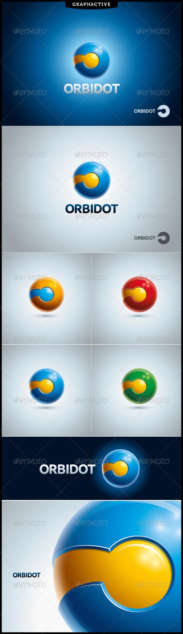 GraphicRiver Orbidot Globe Logo Template 4300216