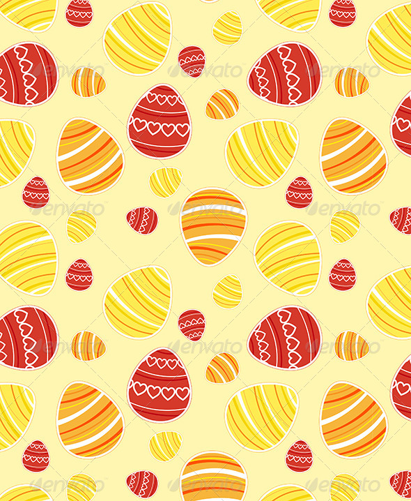 GraphicRiver Yellow Easter Seamless Pattern 4318256