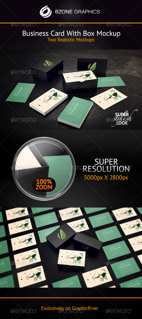 GraphicRiver Business Card with Box Mockup 4320408