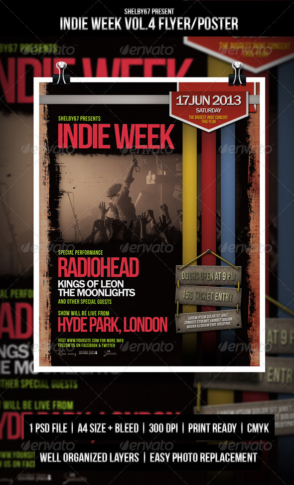 Indie Week Flyer / Poster Vol.4 - Events Flyers