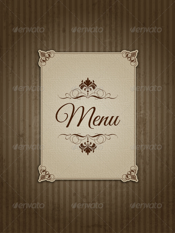 GraphicRiver Vintage Menu Design 4373020