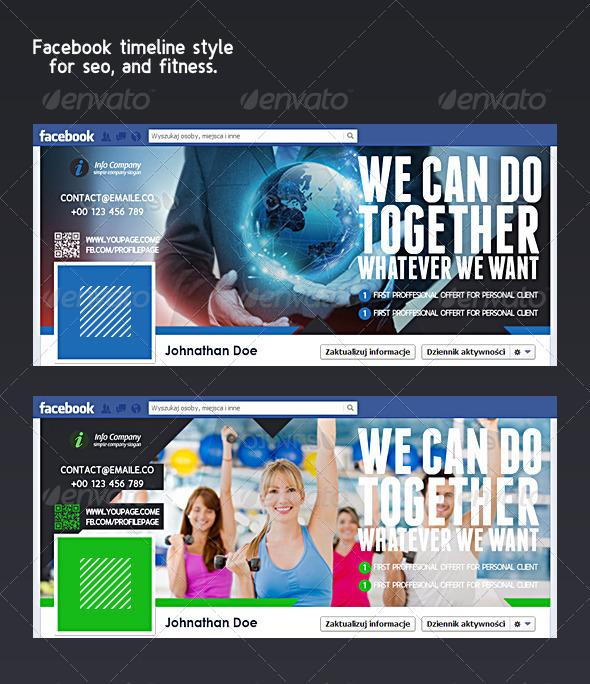 GraphicRiver Fitness Timeline Seo Timeline Facebook 4373025