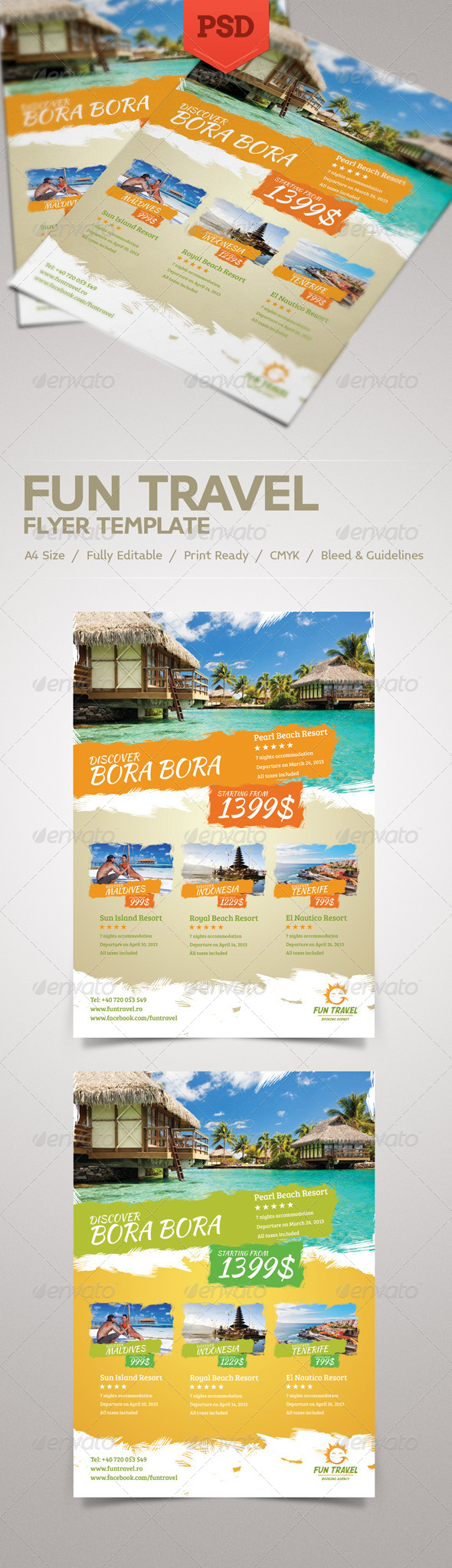 GraphicRiver Fun Travel Flyer 4148227