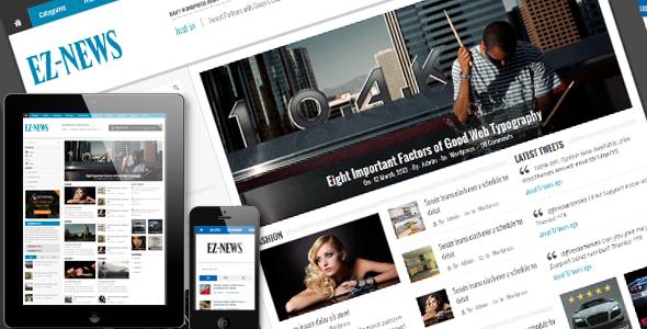 ThemeForest EZ-News HTML5 Template 4373190