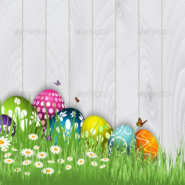 Easter Egg Background - Seasons/Holidays Conceptual