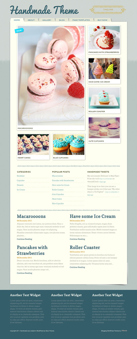 Handmade - Personal WordPress Blogging Theme