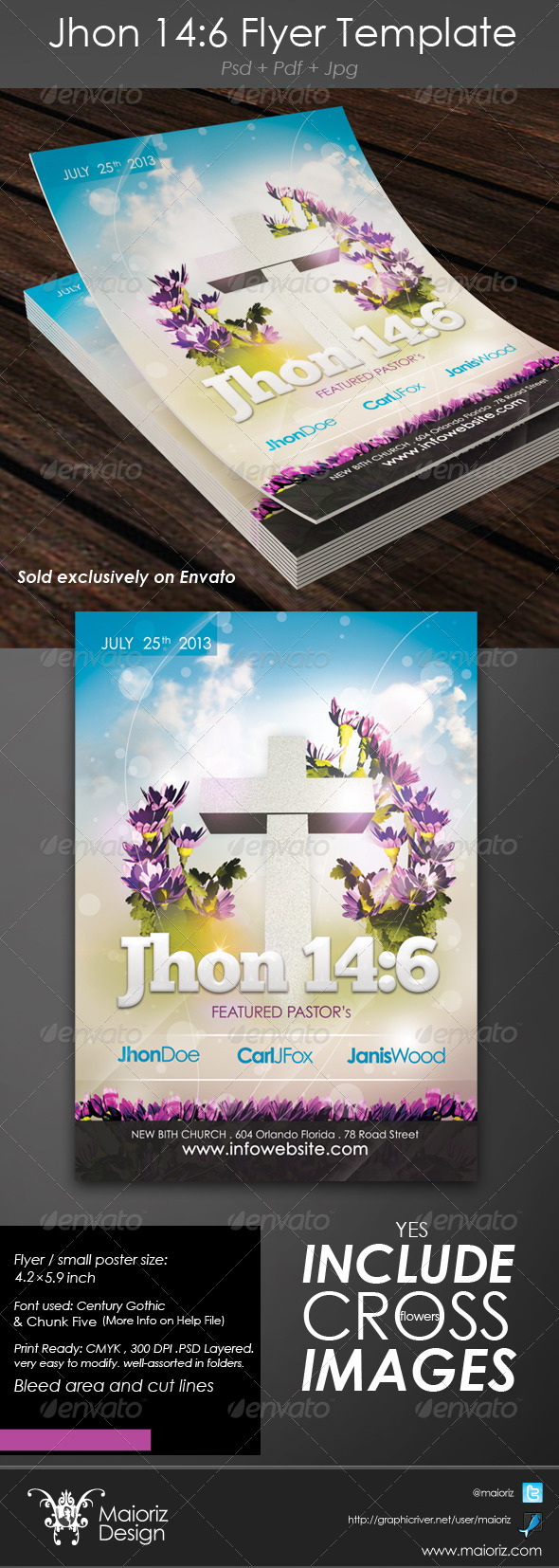 GraphicRiver John 14 6 Flyer 4270469