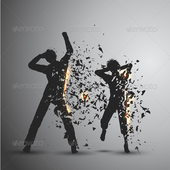 Exploding Silhouettes - People Characters