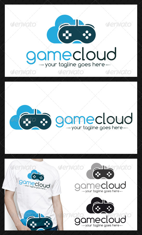 GraphicRiver Game Cloud Logo Template 4374048