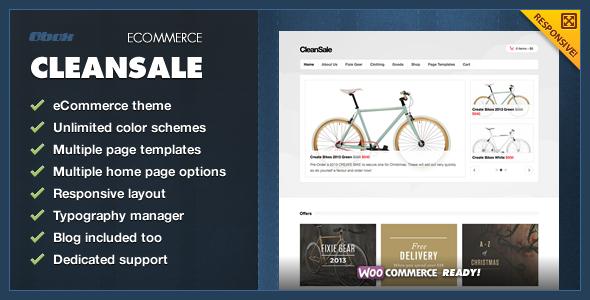 CleanSale - WordPress eCommerce Theme - ThemeForest Item for Sale