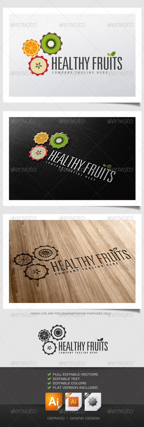 GraphicRiver Healthy Fruits logo 4374079