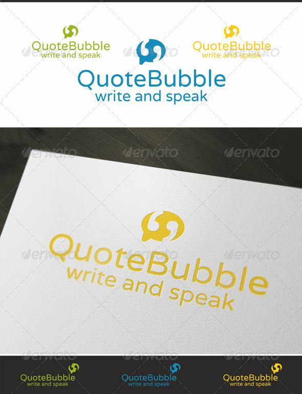 Quote Bubble - Speech Logo - Symbols Logo Templates