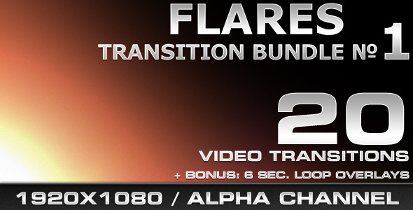 [VideoHive 469480] Flares Transition Bundle 1 | Motion Graphics