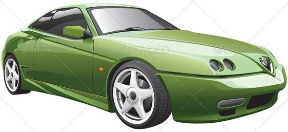 GraphicRiver Green Sport Car 4374399