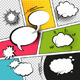 Comic Strip Speech Bubbles - GraphicRiver Item for Sale