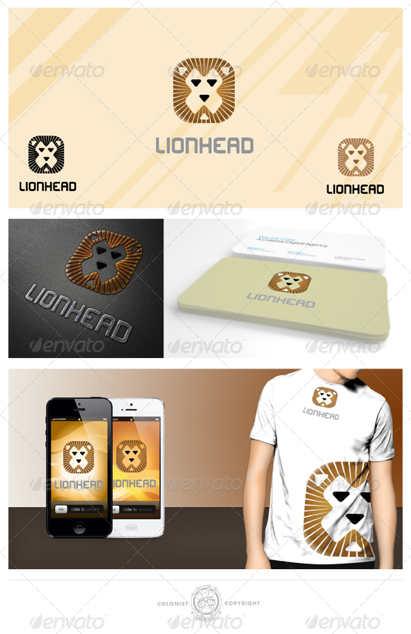 GraphicRiver Lion head logo 4375252