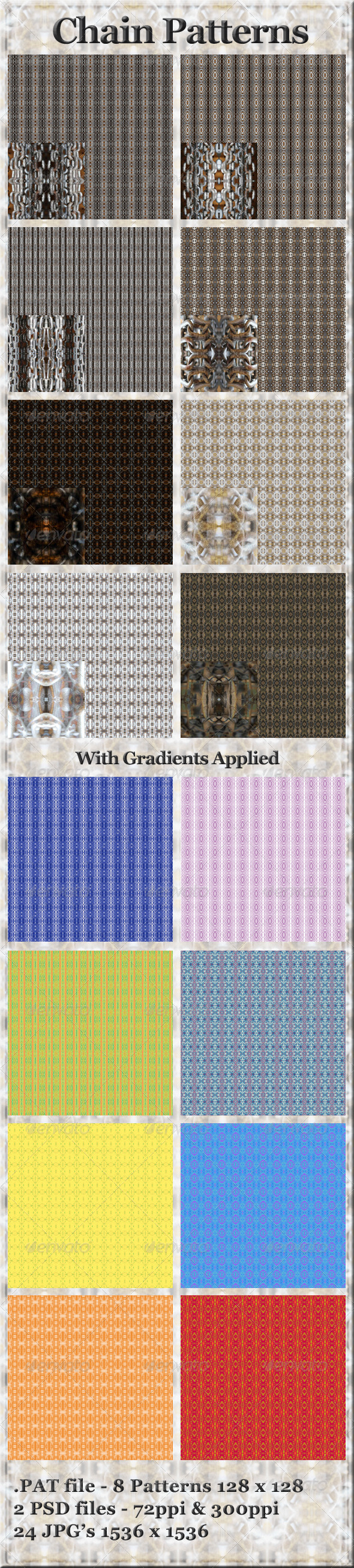 GraphicRiver 8 Chain Patterns Seamless Tileable 4375277