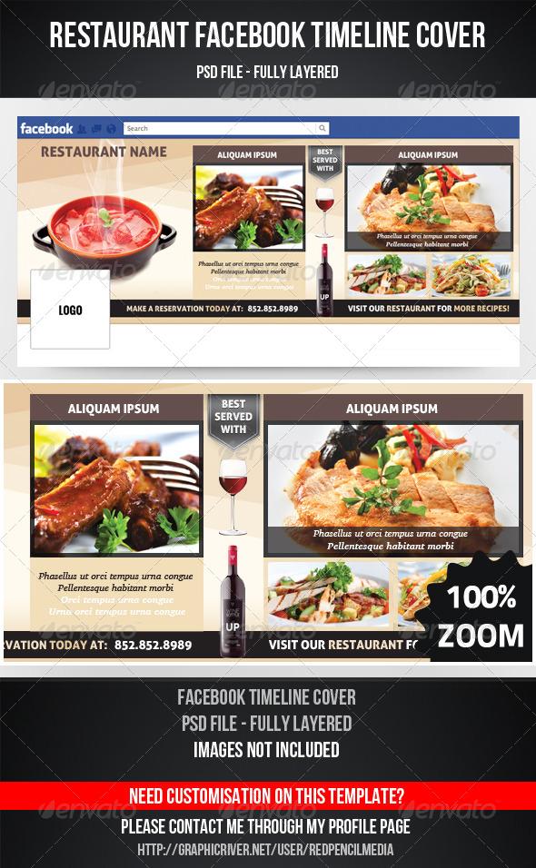 GraphicRiver Restaurant Facebook Timeline Cover 4375426