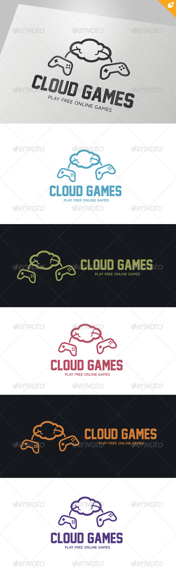 GraphicRiver Cloud Games Logo 4375640