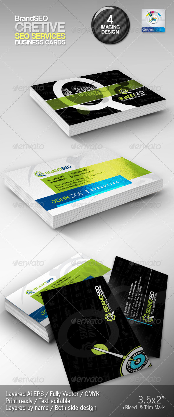 GraphicRiver BrandSEO Creative Business Cards 4375664