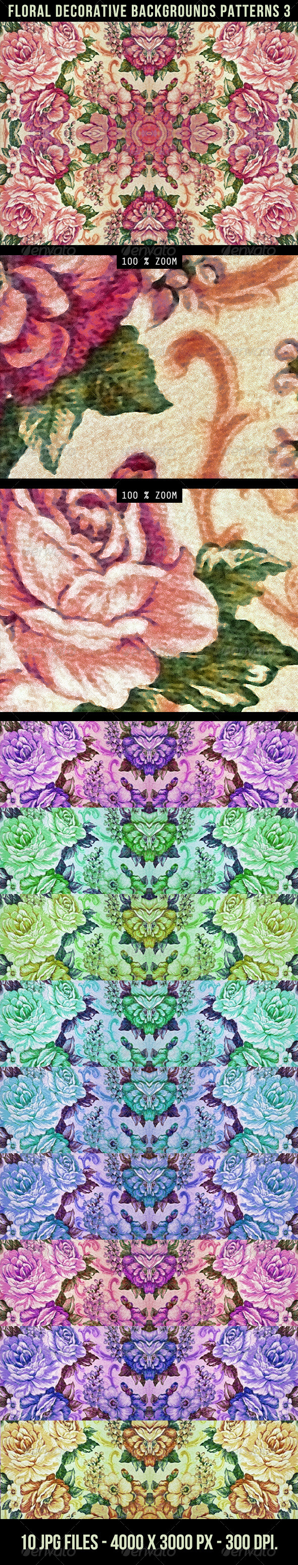 GraphicRiver Floral Decorative Background Pattern 3 4329193