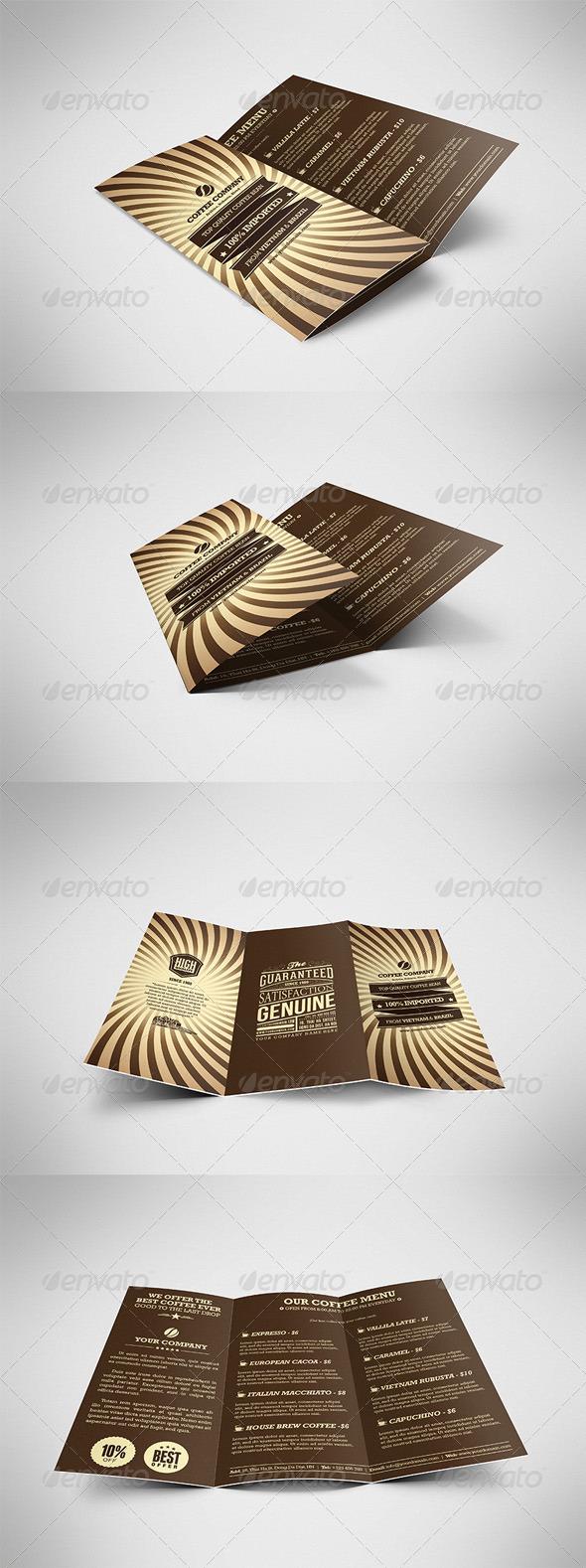 GraphicRiver Retro Coffee Brochure Tri-fold 4375840
