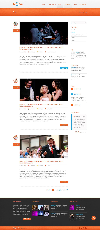 Biz.Box - Responsive Business PSD Template