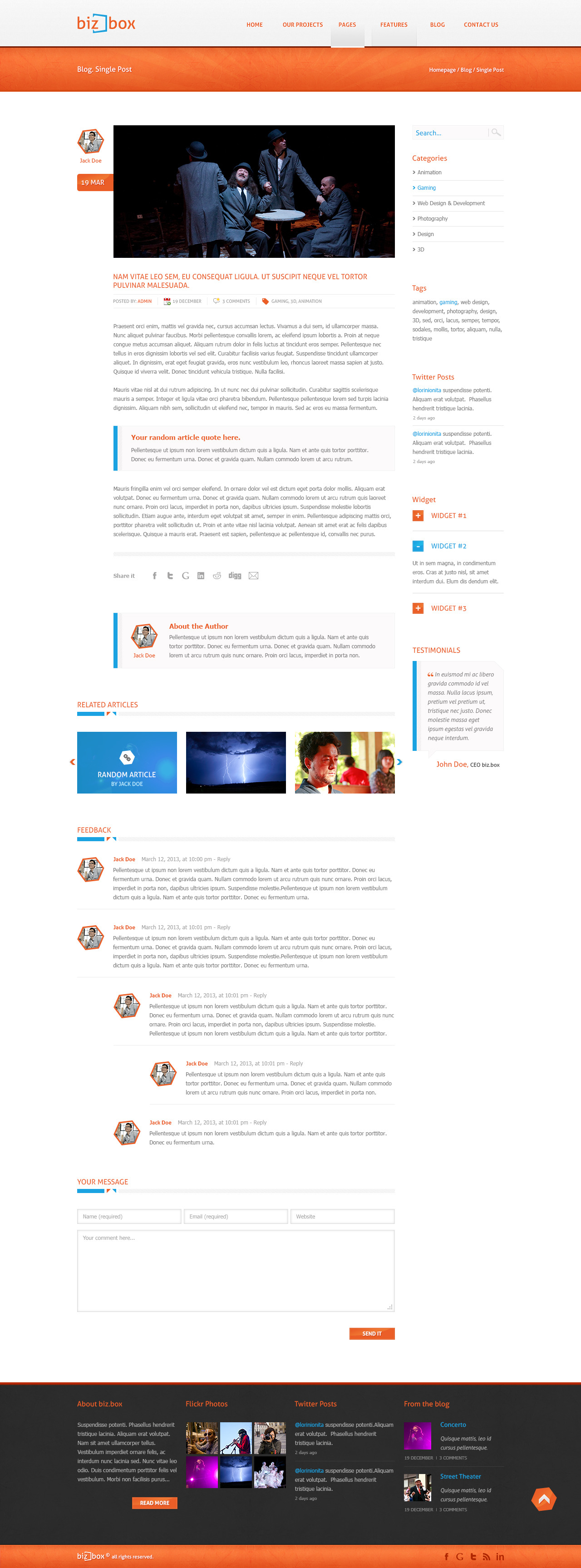 Biz.Box - Responsive Business PSD Template
