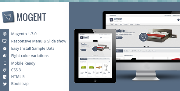 ThemeForest Mogent Mobile ready Magento template 4325646